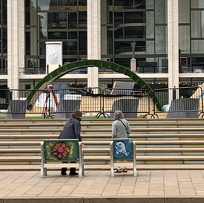 Public art chair at Lincoln Center 2