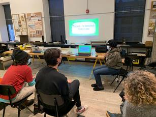 Pelumi's presentation practice at Leroy Street Studio