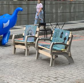 Public art chair in Dumbo 1