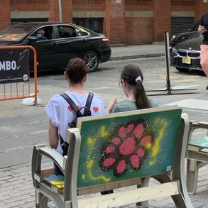 Public art chair in Dumbo 3