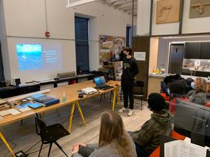 Mateo's presentation practice at Leroy Street Studio