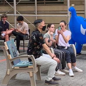 Public art chair in Dumbo 2