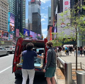 Public art chair going to Times Square
