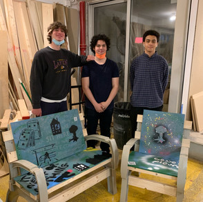 CityLADZ at work on our public art chair 10