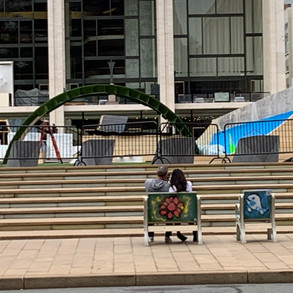 Public art chair at Lincoln Center 3