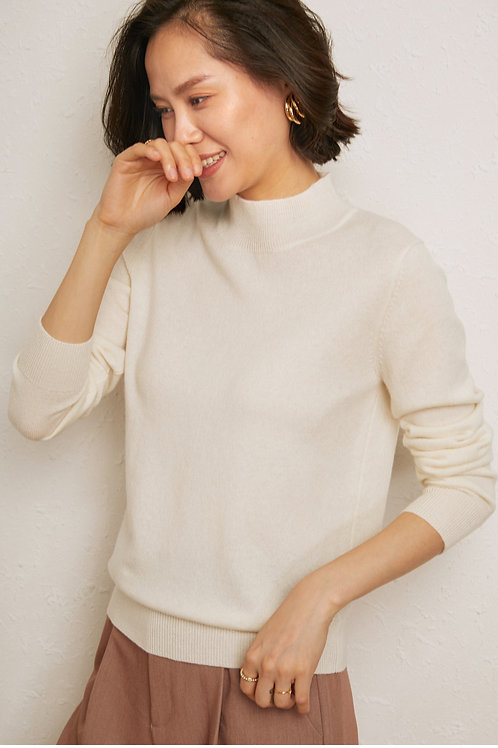 Crew Neck Knit Pullover Lady Cashmere Sweater