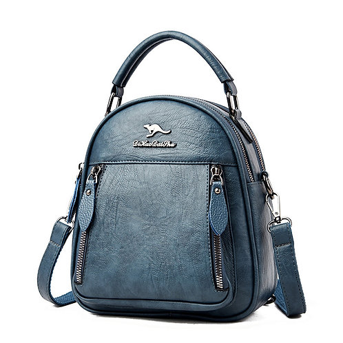 All-in-one soft leather bag