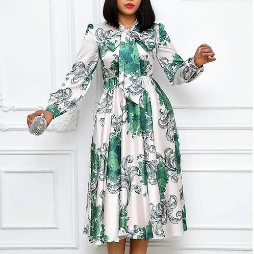 Elegant Bowtie Collar Dress