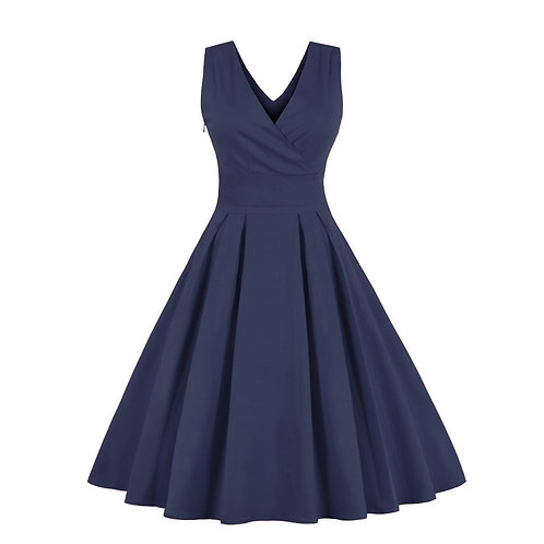 Deep V Evening Dress