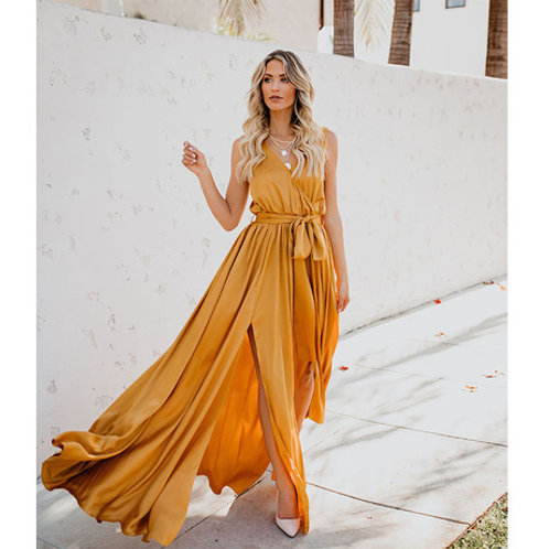 BOHEMIAN SOLID LONG DRESS