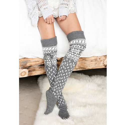 Knee High Thigh Knitted Stockings