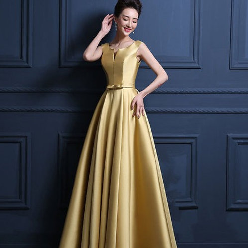 Satin Sexy V Neck Bridesmaid dress