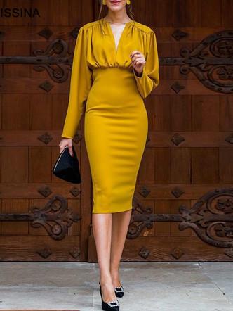 KAUNISSINA-Bodycon-Dress-Elegant-Cocktai