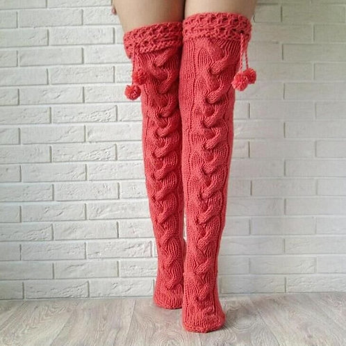 Long Knitted Stockings