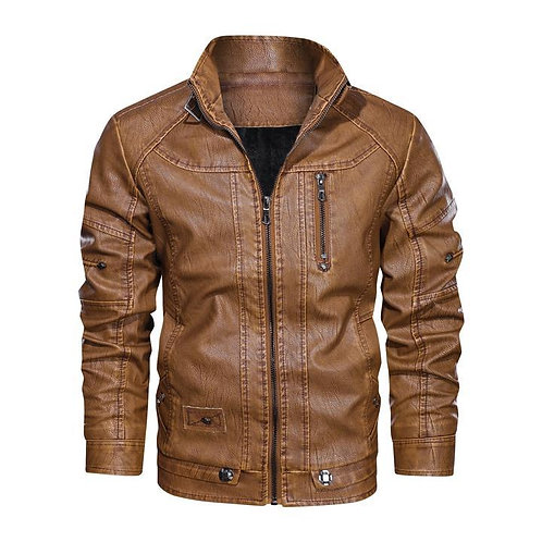 Military PU Leather Jacket