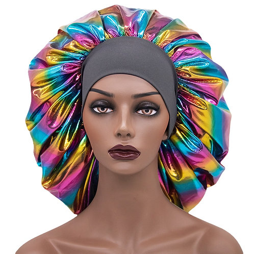Oversized Stretchy Wide-brimmed Night Cap