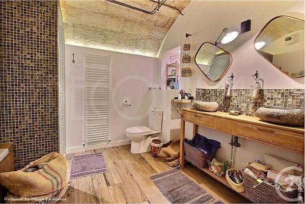 salle de bain cave sous sol Olivia Faidh