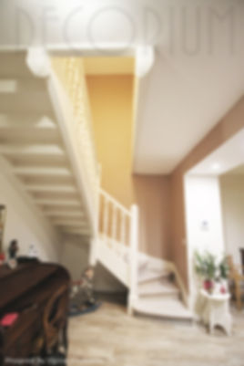 cage d'escalier campagne chic olivia Fai