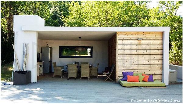 permis extension pool house Laudun l'ard