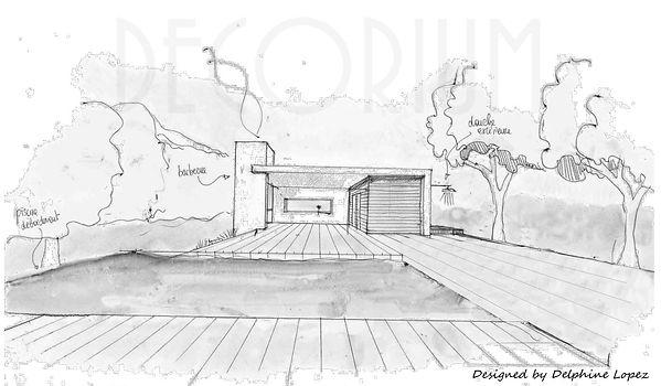 pool house et piscine Gard Delphine Lope