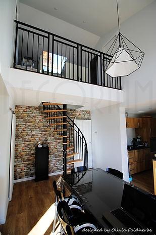 séjour double hauteur mezzanine Rions 33