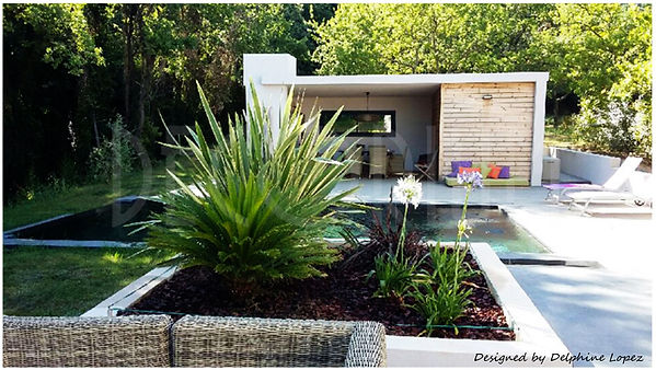 projet extension pool house Laudun l'ard