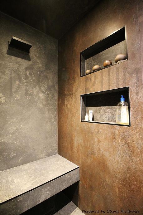 2 niche douche ilot decorium Olivia Faidherbe architecte decorateur Langon Sauveterre Créo