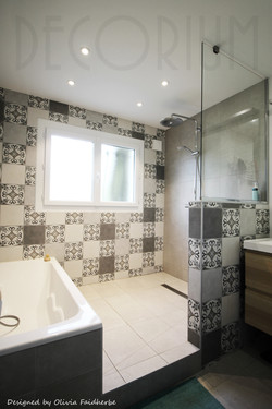 salle de bain baignoire et douche Decori