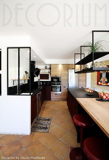 cuisine sur mesure industrielle repas ilot central langon decorium agencement olivia faidh