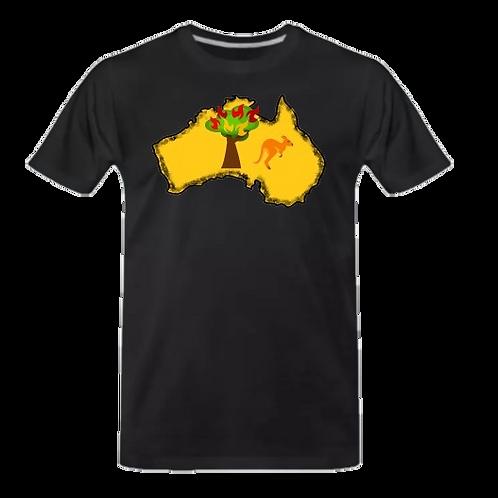 Australien T-Shirt schwarz
