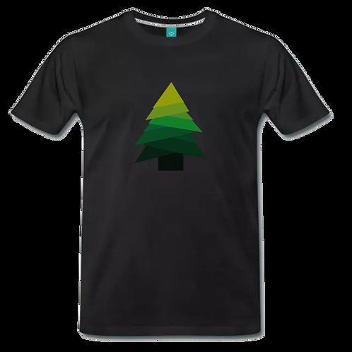Tannenbaum T-Shirt Schwarz