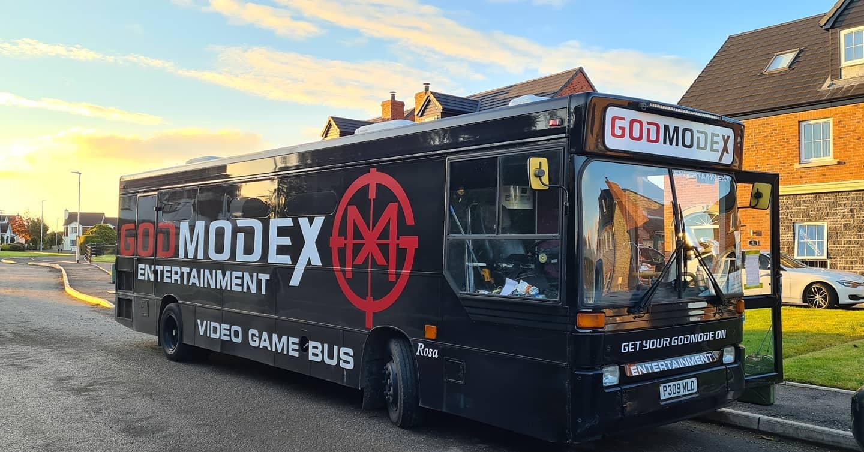 GodmodeX video Game bus Newtownabbey