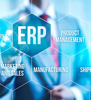 ERP computer software concept businessma
