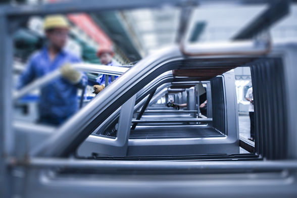 Modern automatic automobile manufacturin