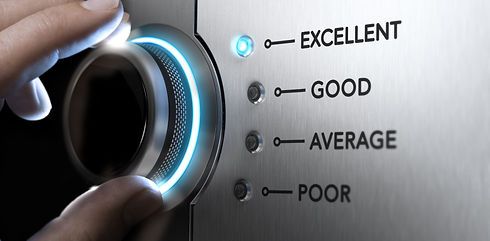 Hand turning a knob to the top position, blue light and blur effect. Concept image for exc