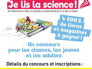 Journée nationale «JE LIS LA SCIENCE!» Édition 2019