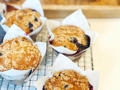 HEAVENLY DELICIOUS Blueberry Muffins with Streusel Recipe