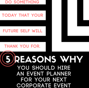 5 Reasons To Hire An Event Planner For Your Next Corporate Event