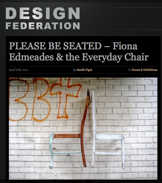 Design Federation: Fiona Edmeades and the Everyday Chair