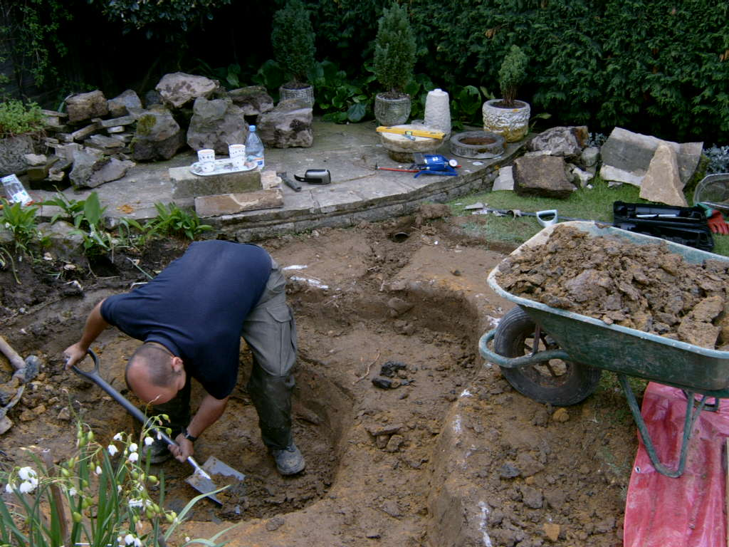 pond building West Sussex