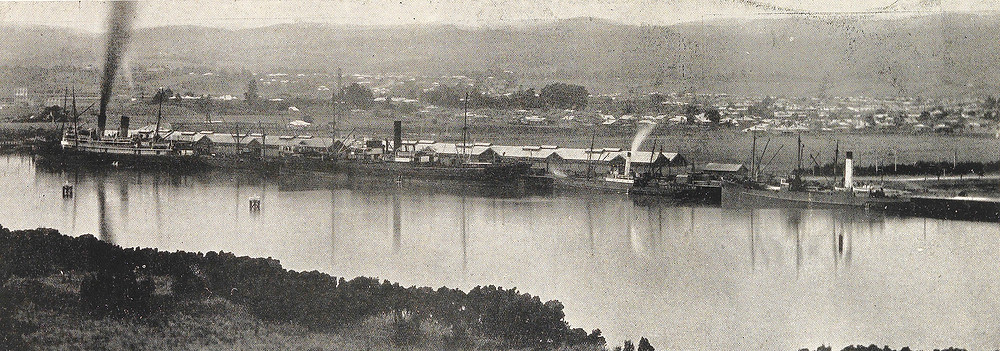 Kings Wharf photographed from Trevallyn in 1928 (Weekly Courier image)
