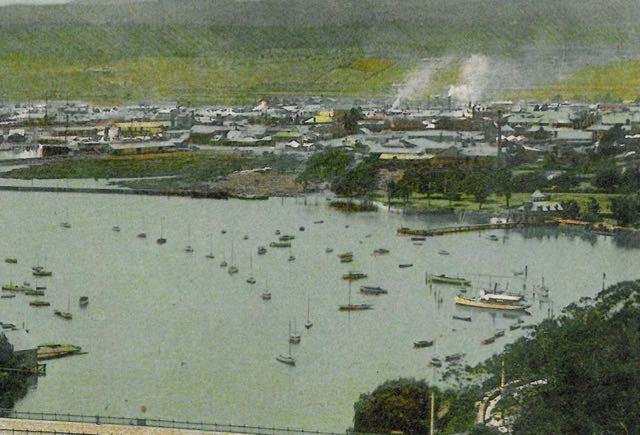 The site that became Royal Park in 1911 from a hand-coloured post card.