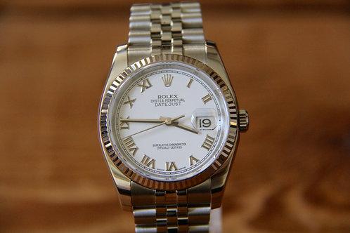 Rolex DateJust - White Roman - 116234 - Jubilee