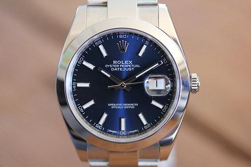 Rolex DateJust - Blue Stick - 126300