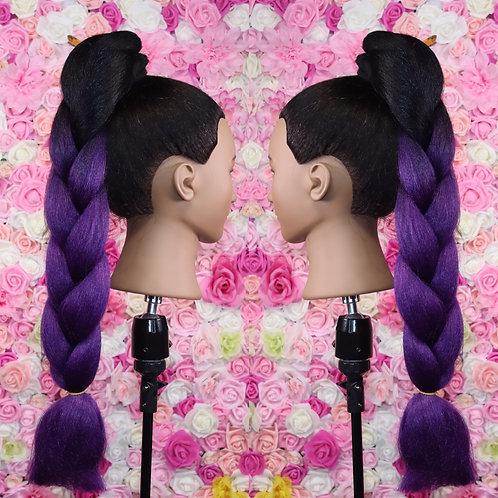 Panorama Purple - Luxury High Quality OMBRE braiding Hair