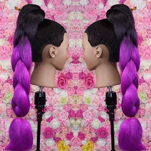 Power pose Purple - Luxury High Quality OMBRE braiding Hair