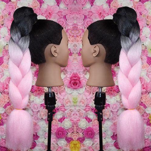 Party time pink  - Luxury High Quality OMBRE braiding Hair
