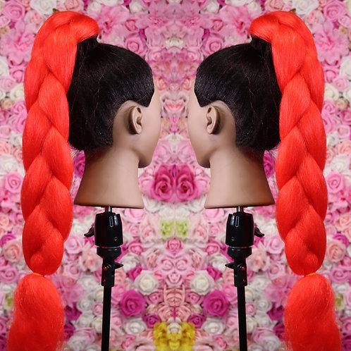 Bright  Red - Luxury Braiding High Quality Hair