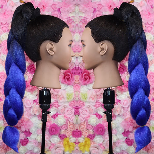 Best blue ever - Luxury High Quality OMBRE braiding Hair