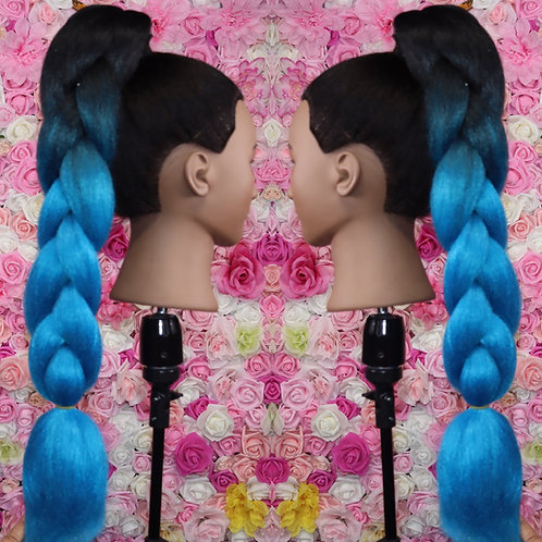Butterfly Blue - Luxury High Quality OMBRE braiding Hair